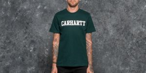 Carhartt WIP Shortsleeve College T-Shirt Parsley/ White S