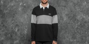 Carhartt WIP Longsleeve Vintage Brush Rugby Polo Black/ White S
