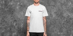 Carhartt WIP College Script T-Shirt Ash Heather/ Damson S