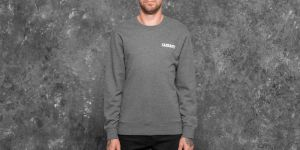 Carhartt WIP College Script Sweat Dark Grey Heather/ White S