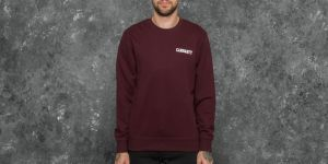 Carhartt WIP College Script Sweat Damson/ White M
