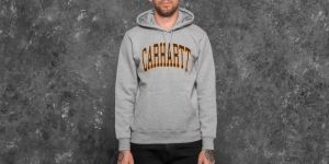 Carhartt WIP Hooded Division Sweat Grey Heather M