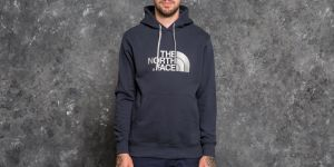 The North Face Drew Peak Pullover Hoodie Urban Navy/ High Rise Grey S