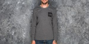 The North Face Fine Longsleeve Tee Dark Heather Grey S