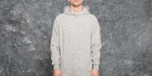 Publish Terry Knit Hoodie Heather Grey S
