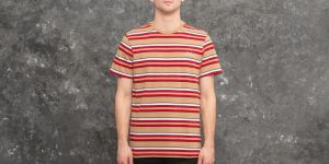 HUF Malibu Short Sleeve Stripe Shirt Red S