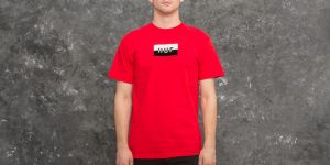 HUF Split Bar Logo Tee Red S