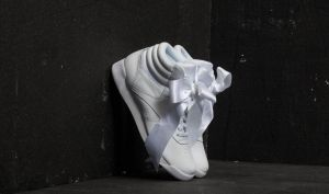 Reebok Freestyle Hi Satin Bow White/ Skull Grey EUR 36