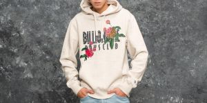 Billionaire Boys Club Embroidered Floral Popover Hood Oat Marl M