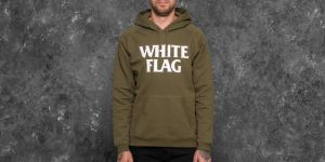 Carhartt WIP Hooded White Flag Sweat Rover Green/ White S