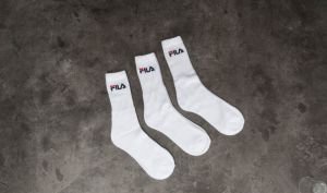 FILA 3 Pack Sport Socks White