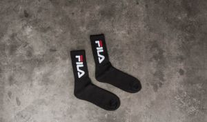 FILA 2 Pair Tennis Socks Black