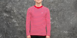 MAISON KITSUNÉ Tricolor Fox Patch Marin Tee Red/ White S