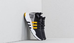 adidas EQT Support Mid ADV Primeknit Core Black/ Eqt Yellow/ Ftw White EUR 41 1/3