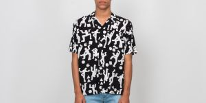 Carhartt WIP Shortsleeve World Party Shirt Black/ White S