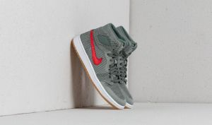 Air Jordan 1 Retro High Flyknit BG Clay Green/ White-Hyper Cobalt EUR 37.5