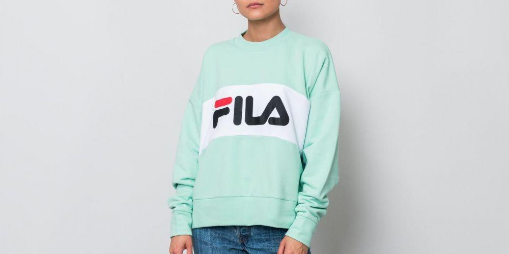 FILA Leah Crew Sweat Lichen  Bright White S značky Fila - Lovely.sk 40d7f5dcb06