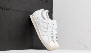 adidas Superstar 80s Crystal White/ Crystal White/ Off White EUR 41 1/3