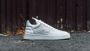 Filling Pieces Low Top Quilted Hairy White US 8