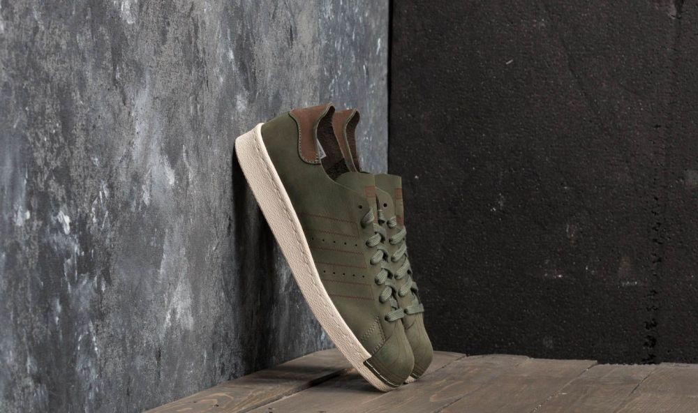 adidas Superstar 80s Decon Base Green  Base Green  Noble Red. adidas  Originals 51ef72ee67e