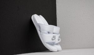Nike Wmns Benassi Duo Ultra Slide White/ Metallic Silver