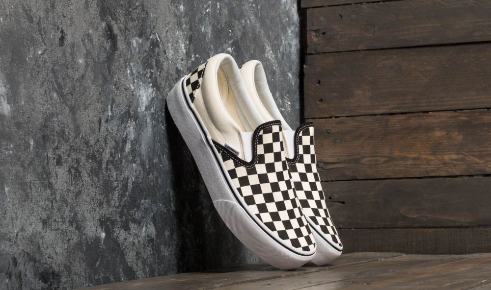Vans Classic Slip-On Platform Black And White Checkerboard  White ... b4b3abbc7c8