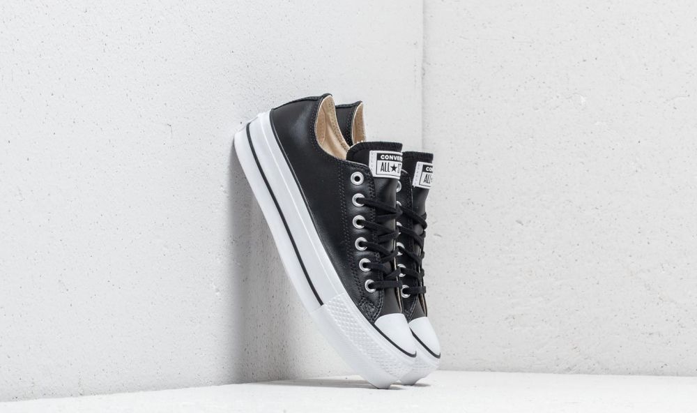 587219612097a Converse Chuck Taylor All Star Lift Clean OX Black  Black  White značky  Converse - Lovely.sk