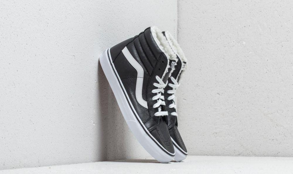 5db92e91aa0d1 Vans Sk8-Hi Reissue (Leather/ Fleece) Black/ True White značky Vans ...