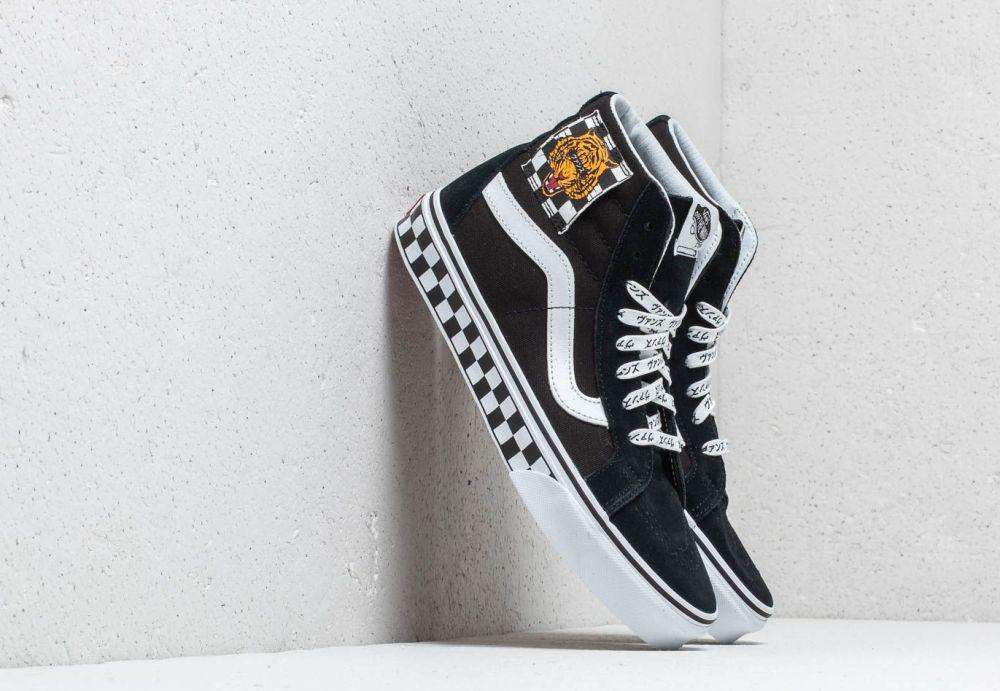 Vans (Tiger Check) Sk8-Hi Reissue Black  True White značky Vans ... dcbb15e62cc