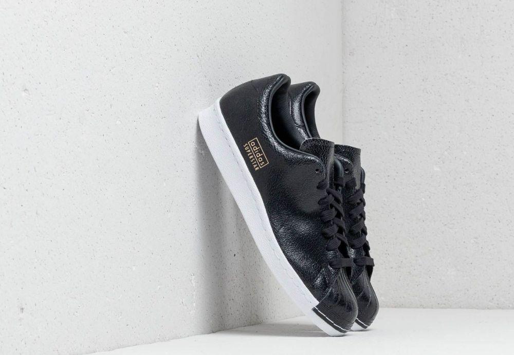 adidas Superstar 80s Clean Core Black  Core Black  Ftw White. adidas  Originals 7db8a1a041a