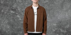 Stüssy Yip Up Mixed Cord Shirt Brown