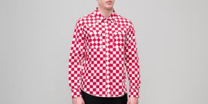 Stüssy Checker Western Longsleeve Shirt Red