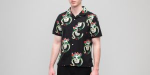 Stüssy Skull Pattern Shirt Black