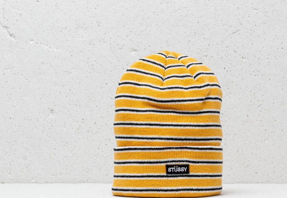 d6b3792a3 Stüssy Striped Fa18 Cuff Beanie Yellow značky Stüssy - Lovely.sk