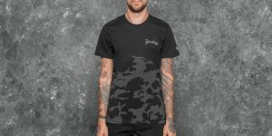 New Era NTC Reflective New York Yankees Tee Black Camo
