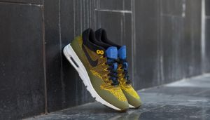 Nike W Air Max 1 Ultra Flyknit Olive Flak/ Black-Game Royal EUR 36