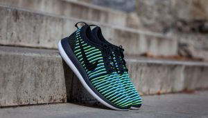 Nike W Roshe Two Flyknit Black/ Black-Photo Blue-Volt EUR 44