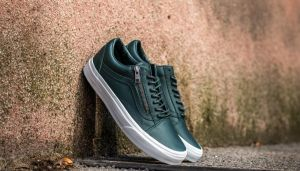 Vans Old Skool Zip Antique Silver Green Gables EUR 40.5