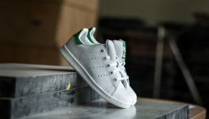 adidas Stan Smith C FTW White/FTW White/Green EUR 30.5