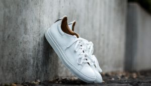 Marco Laganà Sneaker Leather White-White Sole US 8