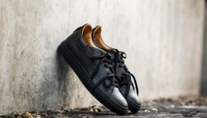 Marco Laganà Sneaker Leather Black-Black Sole  US 8