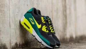 Nike Air Max 90 Mesh (GS) Black/ Volt-Rio Teal-White  EUR 40