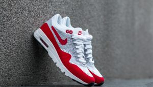 Nike W Air Max 1 Ultra Flyknit White/ University Red-Pure Platinum  EUR 41