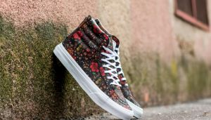Vans Sk8-Hi Slim Zip (Floral Leather) Multi/ True White EUR 41
