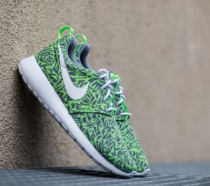 Nike Roshe One Print (GS) Cool Grey/ White-Electric Green EUR 40