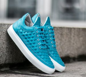Filling Pieces Low Top 3D Cubic Turquoise  US 6