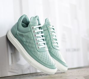 Filling Pieces Low Top Stripe Quilted Blue Ice US 7
