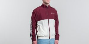 WOOD WOOD Homer Jacket Dark Red/ Off White
