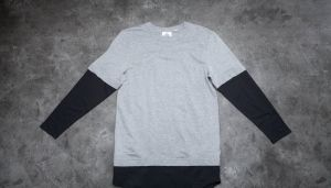 Cheap Monday Fake Long Sleeve Tee Grey Melange L
