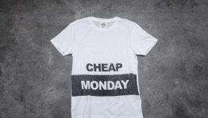 Cheap Monday Standard Block Logo Tee White XL
